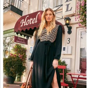 NWT Embroidered Free People Maxi Dress